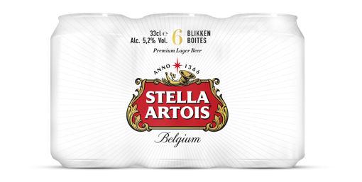 Afbeeldingen van STELLA ARTOIS BLIK 6X33CL